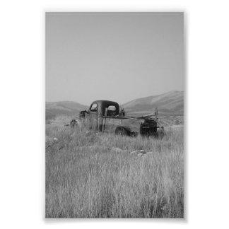 caminhão da foto na grama impressão de foto