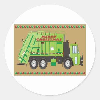 Caminhão da recusa adesivos em formato redondos
