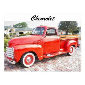 Caminhão de Chevrolet do vintage Cartão Postal