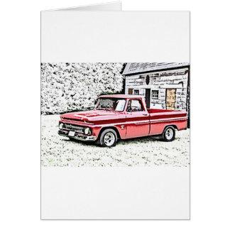 Caminhão de Chevy Cartão Comemorativo