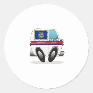 Caminhão de correio NEBRASKA Adesivos Redondos