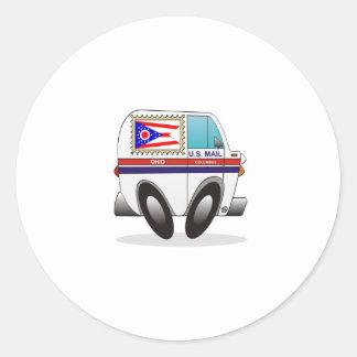 Caminhão de correio OHIO Adesivos Em Formato Redondos
