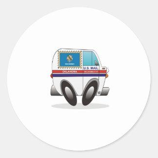 Caminhão de correio OKLAHOMA Adesivo Em Formato Redondo