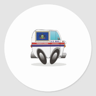 Caminhão de correio PENSILVÂNIA Adesivos Em Formato Redondos