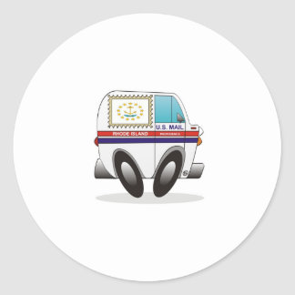 Caminhão de correio RHODE - ILHA Adesivo Redondo