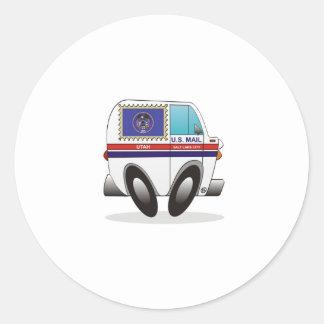 Caminhão de correio UTÁ Adesivo Redondo