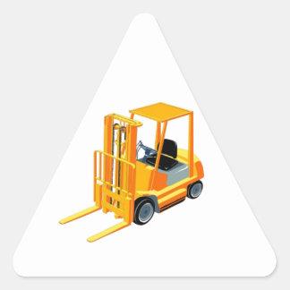 Caminhão de empilhadeira (a.k.a. caminhão de adesivo triangular