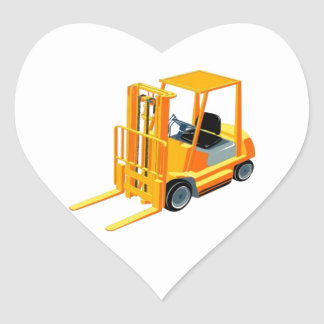 Caminhão de empilhadeira (a.k.a. caminhão de adesivo coração
