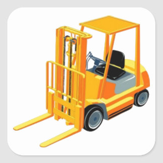 Caminhão de empilhadeira (a.k.a. caminhão de adesivo quadrado