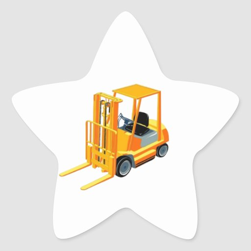 Caminhão de empilhadeira (a.k.a. caminhão de adesivos estrelas