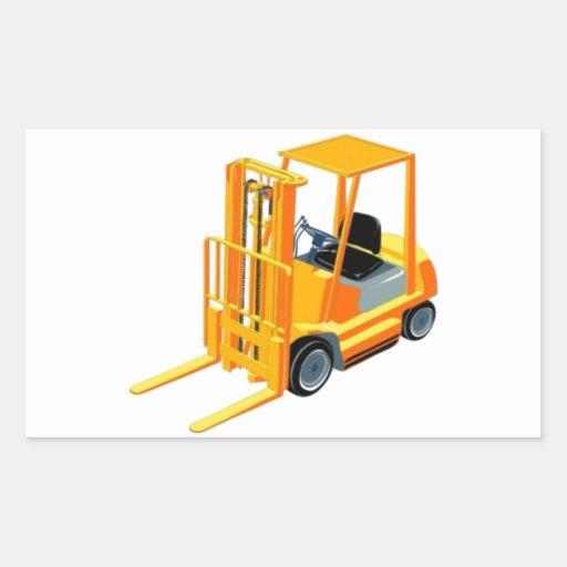 Caminhão de empilhadeira (a.k.a. caminhão de adesivos em forma retangular