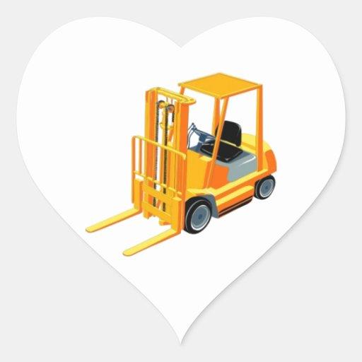 Caminhão de empilhadeira (a.k.a. caminhão de adesivos em forma de corações