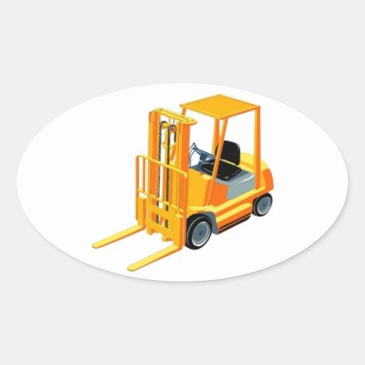 Caminhão de empilhadeira (a.k.a. caminhão de adesivos em formato oval