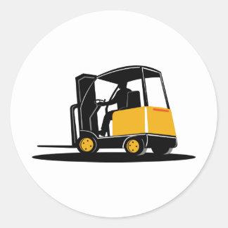 caminhão de empilhadeira retro adesivos