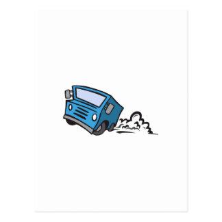 Caminhão de entrega cartoes postais