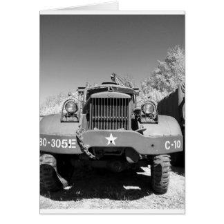 Caminhão de exército grande cartão comemorativo