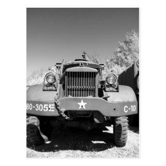 Caminhão de exército grande cartao postal