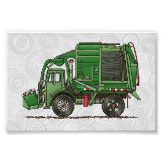 Caminhão de lixo bonito do caminhão de lixo impressão de foto