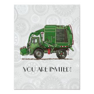 Caminhão de lixo bonito do caminhão de lixo convite