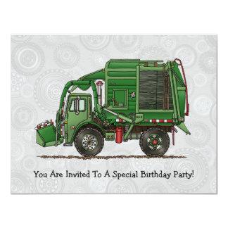 Caminhão de lixo bonito do caminhão de lixo convite personalizado