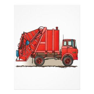 Caminhão de lixo vermelho modelos de panfleto