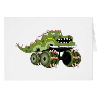 Caminhão de Monstersaurus Cartão Comemorativo