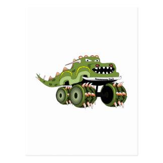 Caminhão de Monstersaurus Cartões Postais