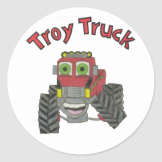 Caminhão de Troy Adesivo Redondo