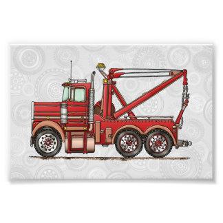 Caminhão de Wrecker bonito Impressão De Foto