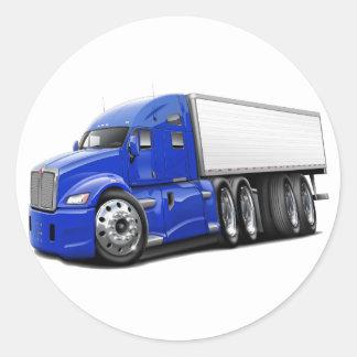 Caminhão do azul KenworthT700 Adesivo Redondo