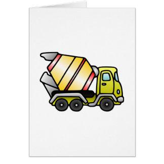 Caminhão do cimento cartao