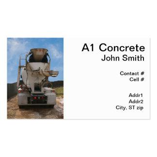 Caminhão do cimento no canteiro de obras modelos cartoes de visita