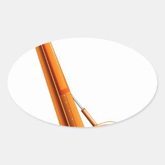 Caminhão do guindaste adesivo oval