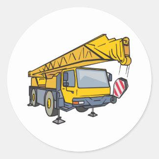Caminhão do guindaste adesivo