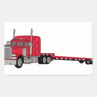 Caminhão do leito adesivo retangular