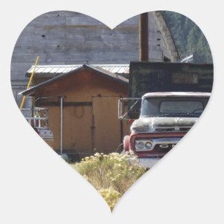 Caminhão do rancho adesivo coração