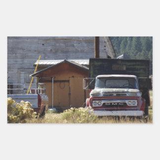 Caminhão do rancho adesivo retangular