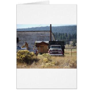 Caminhão do rancho cartão comemorativo