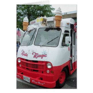 Caminhão do sorvete cartão comemorativo