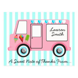 Caminhão do sorvete cartoes postais