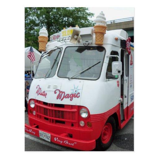 Caminhão do sorvete cartao postal