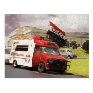 Caminhão do sorvete no domínio de Auckland Cartão Postal