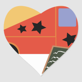 Caminhão do Taco Adesivo Coração