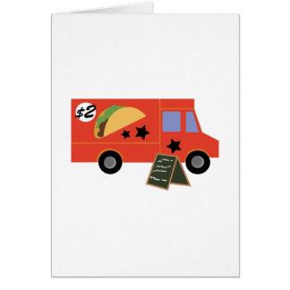 Caminhão do Taco Cartão Comemorativo