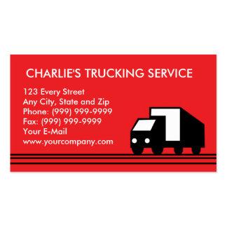 Caminhão do transporte do camião da camionete de e cartoes de visitas