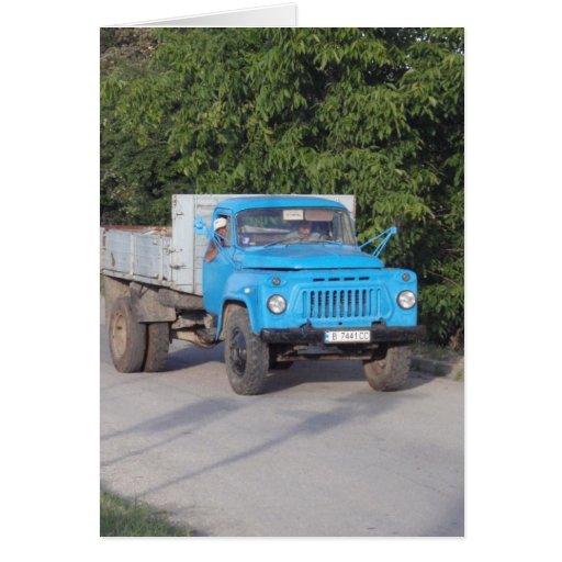 Caminhão do veterano cartao