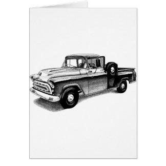 Caminhão do vintage cartoes