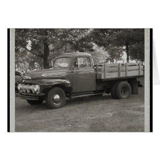 Caminhão do vintage cartões