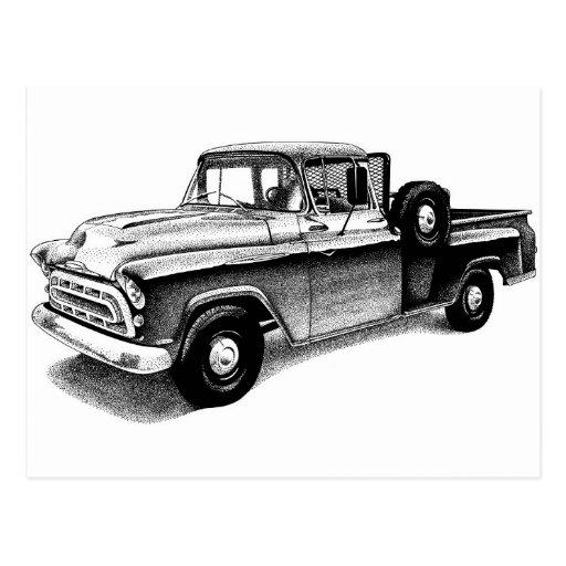 Caminhão do vintage cartao postal