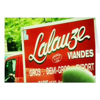 caminhão em Paris Cartão Comemorativo